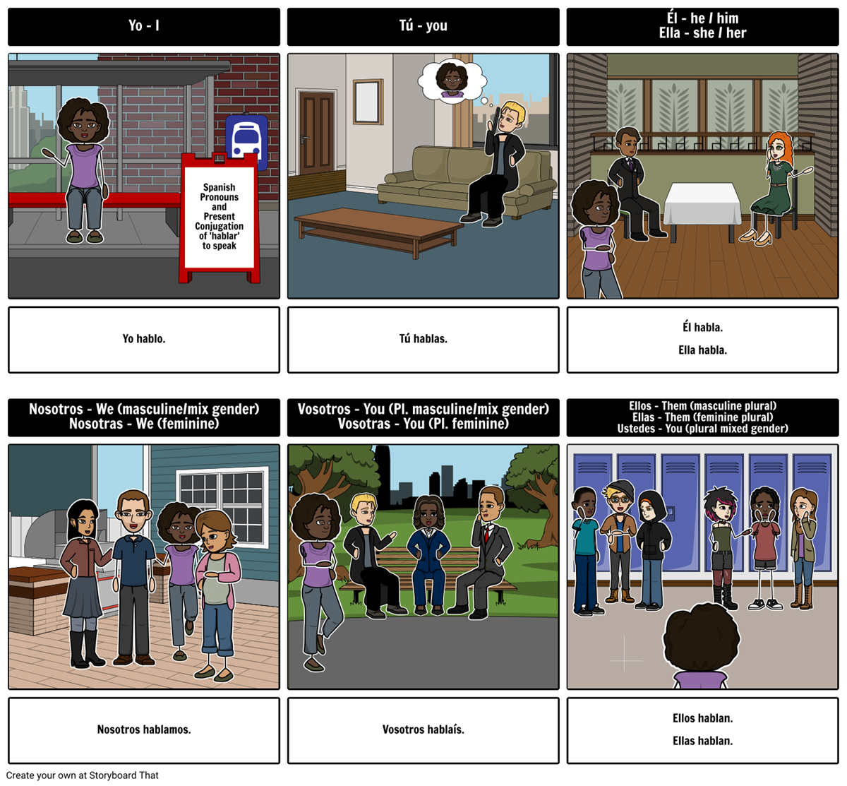 Teaching Spanish With Storyboards Overview