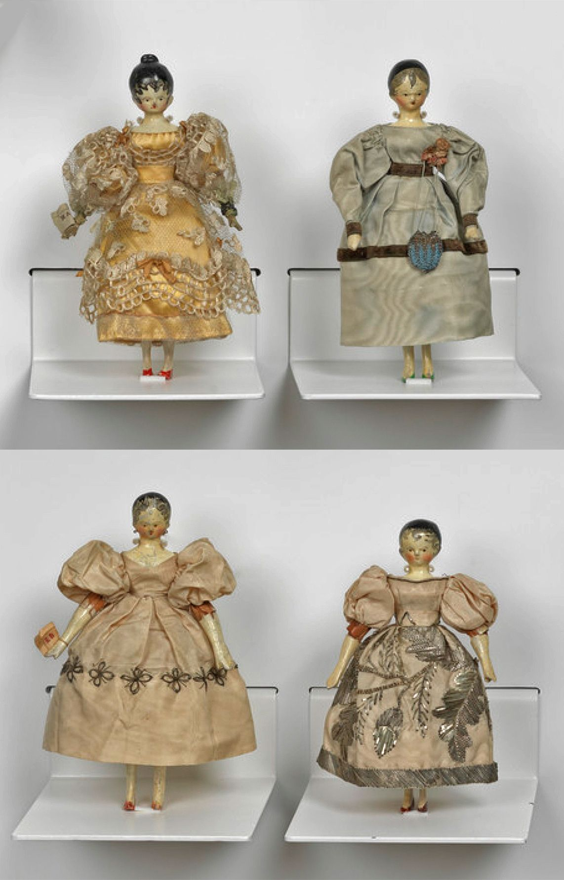 Queen victoriaus childhood dolls that she made with the help of her