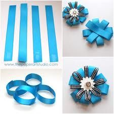 How To Make Flowers Out Of Paper Ribbon Google Search Paper