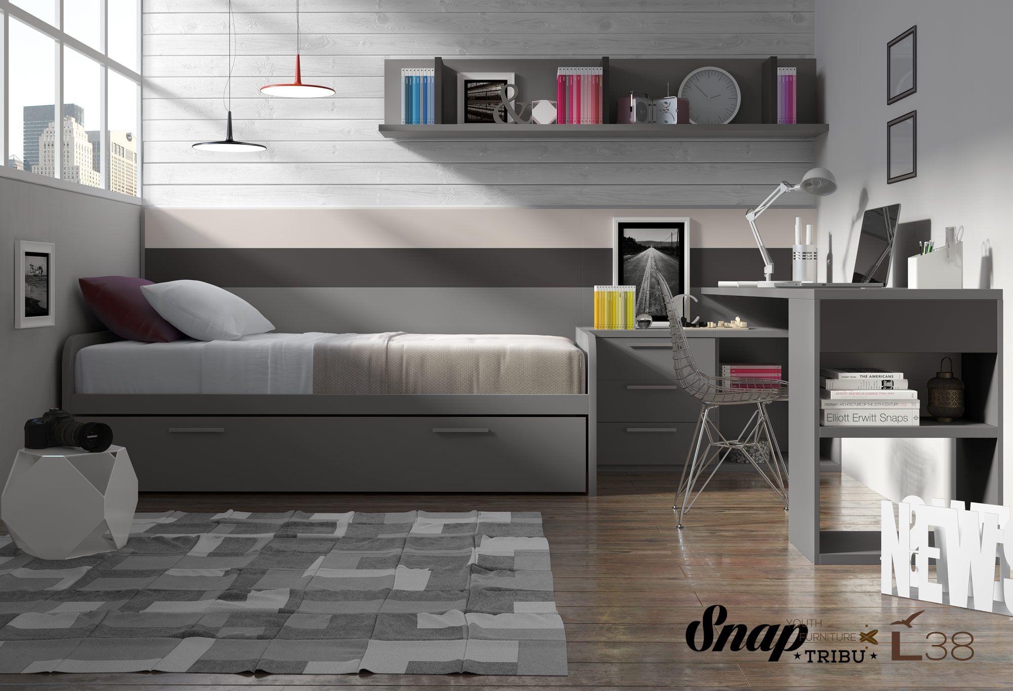 Tribu Snap Muebles Hermida Mueble Juvenil L38 Tribu Snap  # Muebles Necesarios En Un Dormitorio