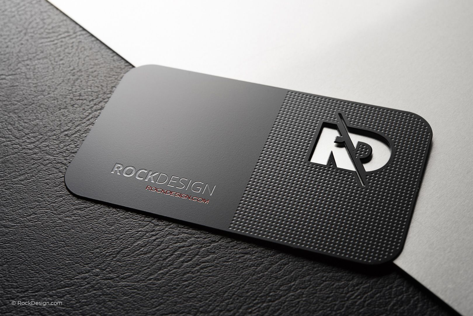Professional black metal business card template - RD | Visiting ...