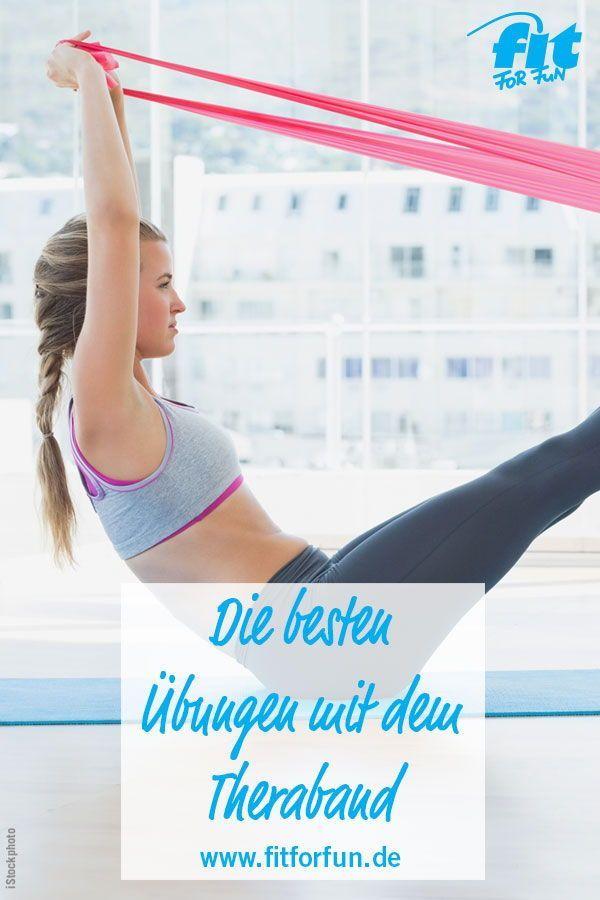 Theraband Übungen: Schnell fit mit dem Gummiband! - FIT FOR FUN