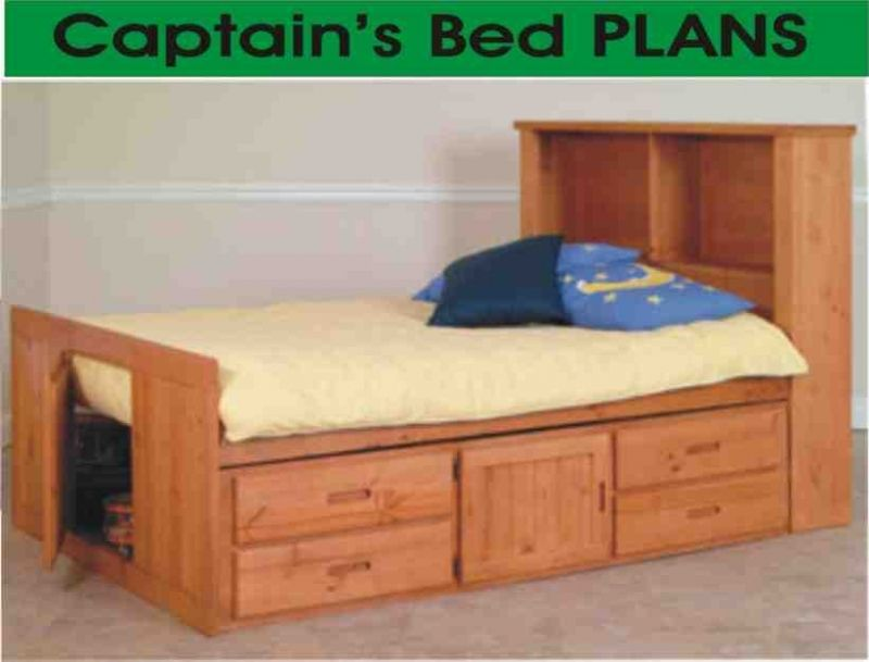 Beds Captain Twin Captains Bed With Bookcase Headboard Twin Captains