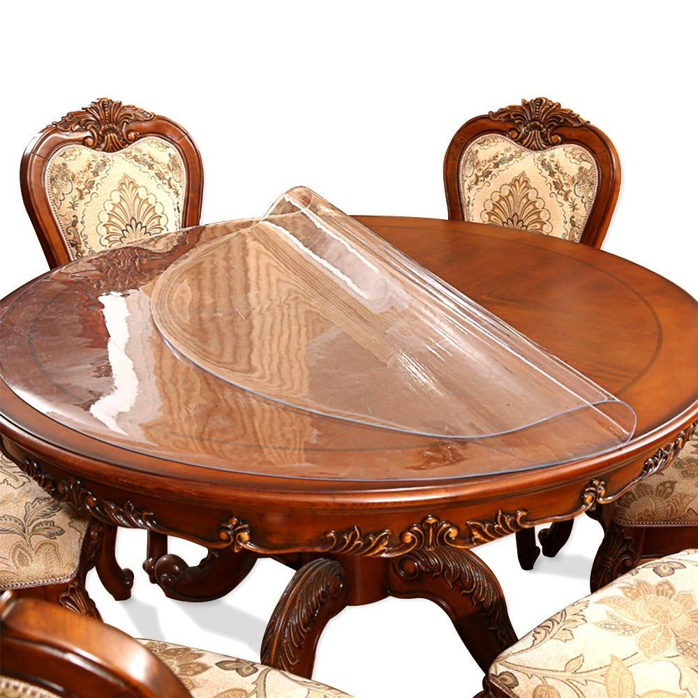 30 Inch Round Clear Dining Table Protector Tablecloth Cover Desk