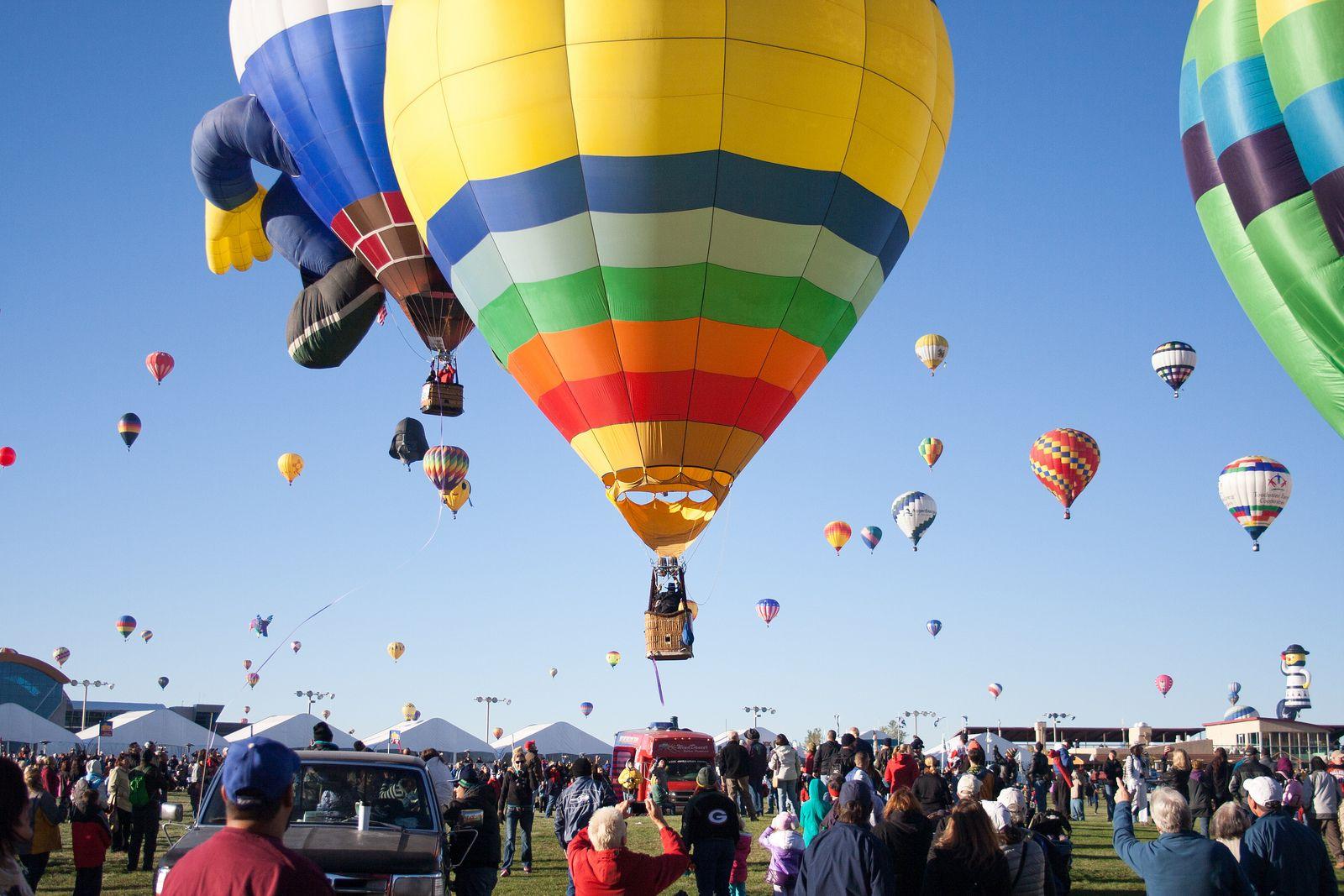 Balloon flight during a festival in France. Oui oui!