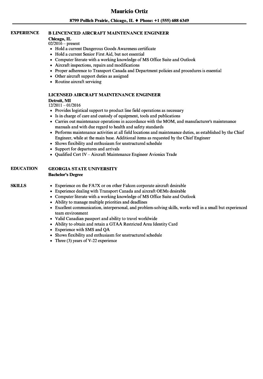 The Astounding Aircraft Maintenance Engineer Resume Samples Velvet Jobs Inside Maintenanc Aircraft Maintenance Engineer Aircraft Maintenance Maintenance Jobs