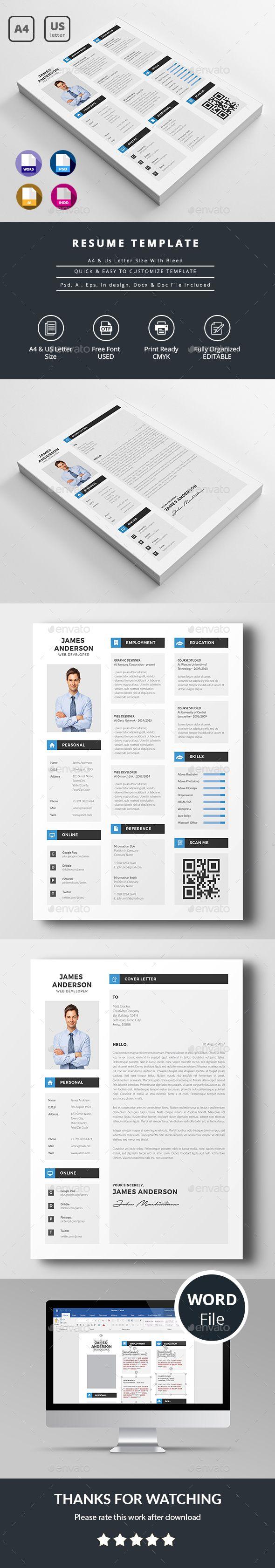 Modern Resume   Pinterest