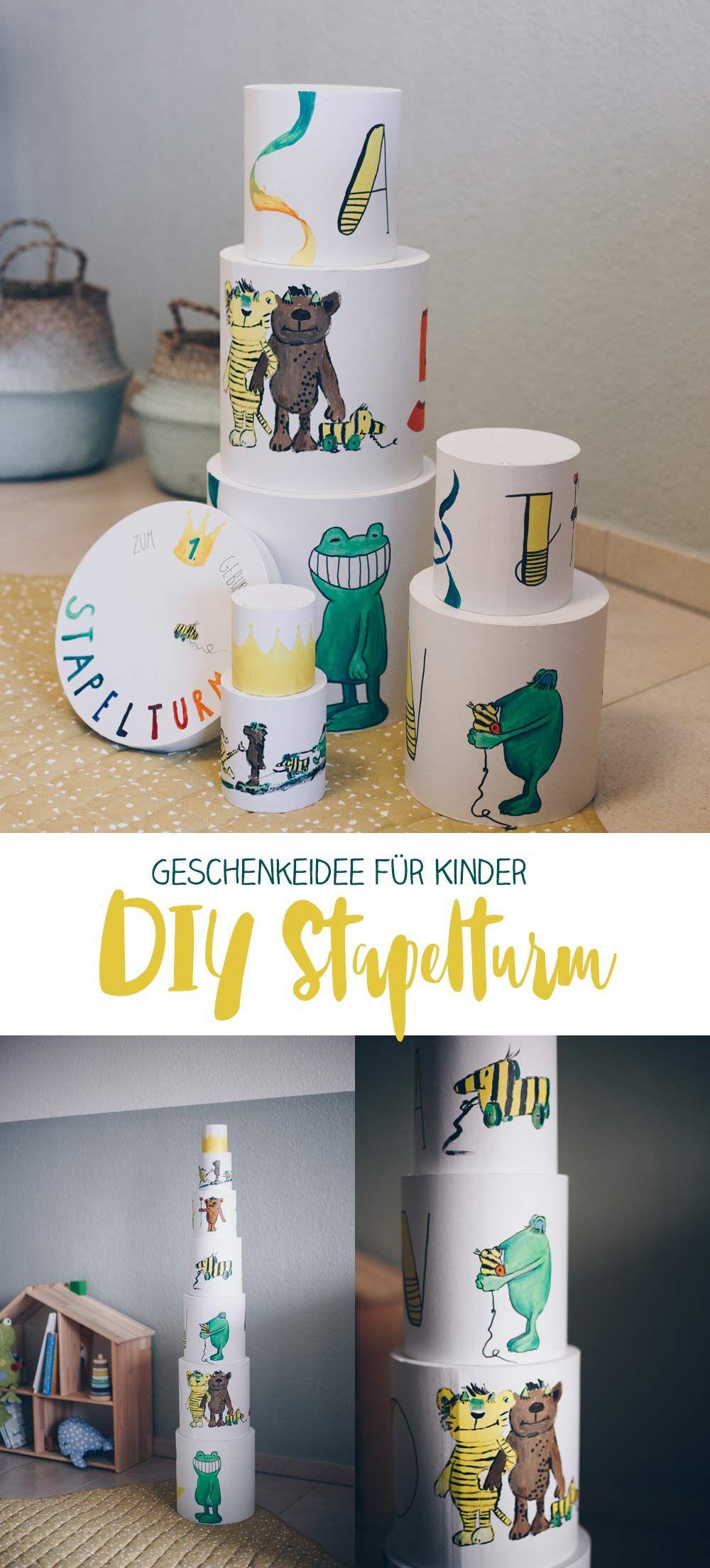 Diy Stapelturm Geschenkidee Fur Kleinkinder Geschenk Zum 1
