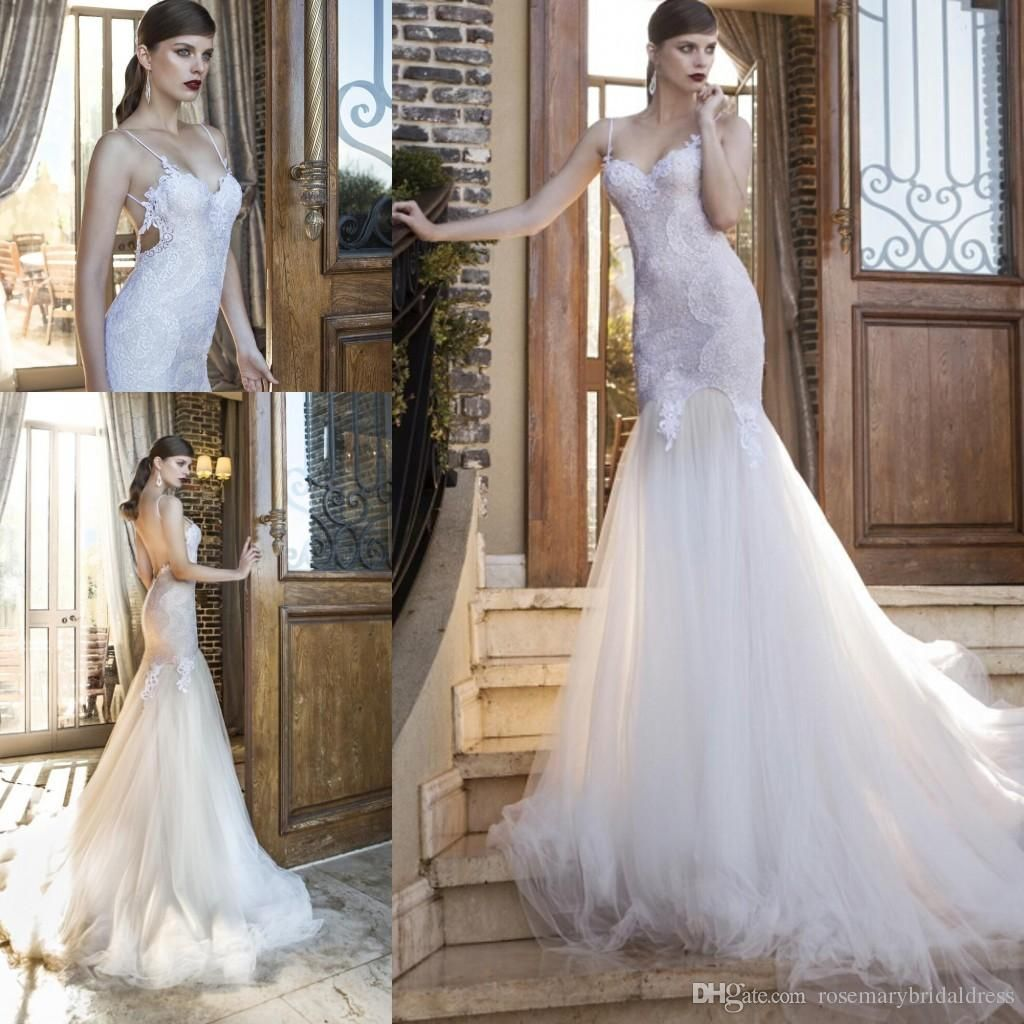 Halter top wedding dresses plus size   Lace Wedding Dresses Spring Summer Sexy Spaghetti Straps