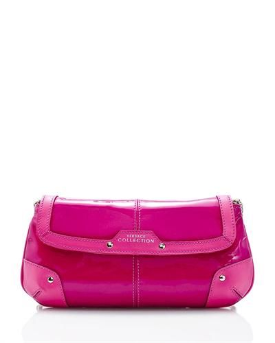 Versace Collection Patent Leather Clutch- Made in Italy  ClutchBags #Handbags