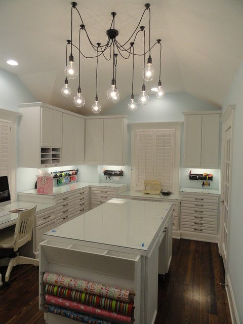 This Is Literally My Dream Office E Look At All That Paper Storage Traditional Home Craft Room Design Ideas Pictures Remodel And Decor