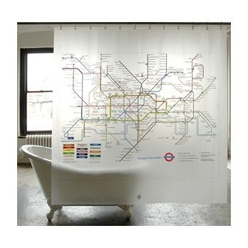 Tube Map Shower Curtain. I Think A Shower Curtain Should Be Interesting,  But It Depends On Your Bathroom Decor.