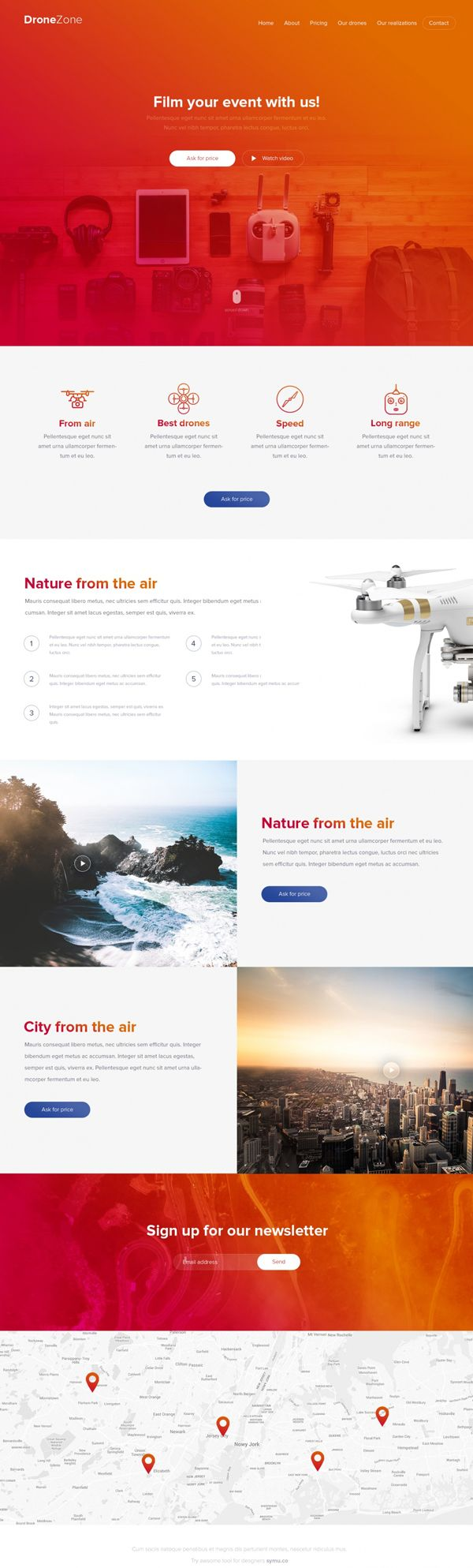 drone zone free psd website template website template pinterest