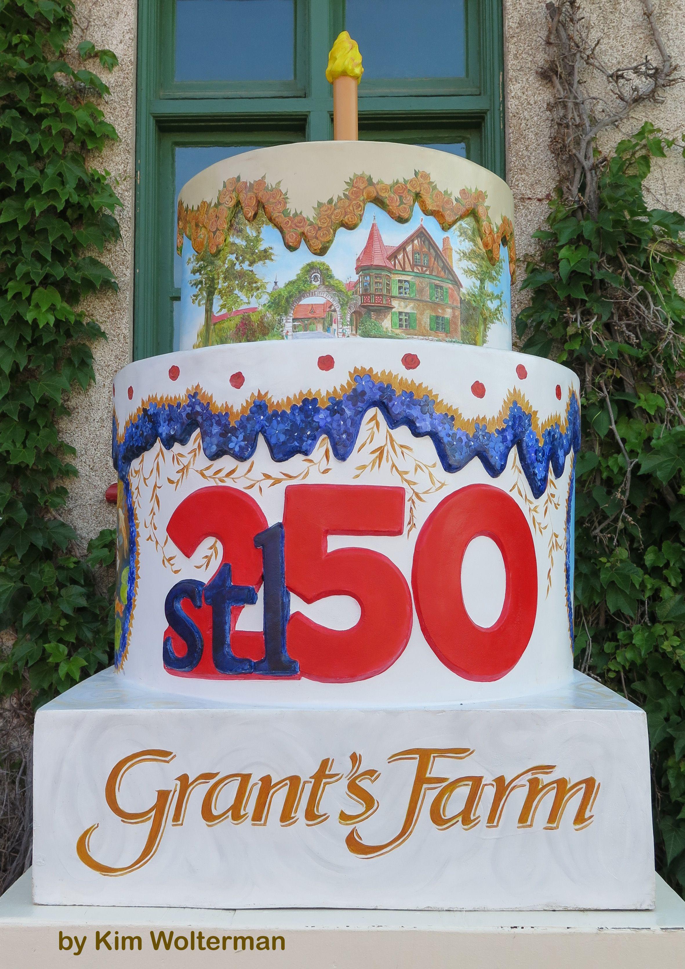 Cakeway to the West - Grant's Farm view 1 #cakewaytothewest #stl250