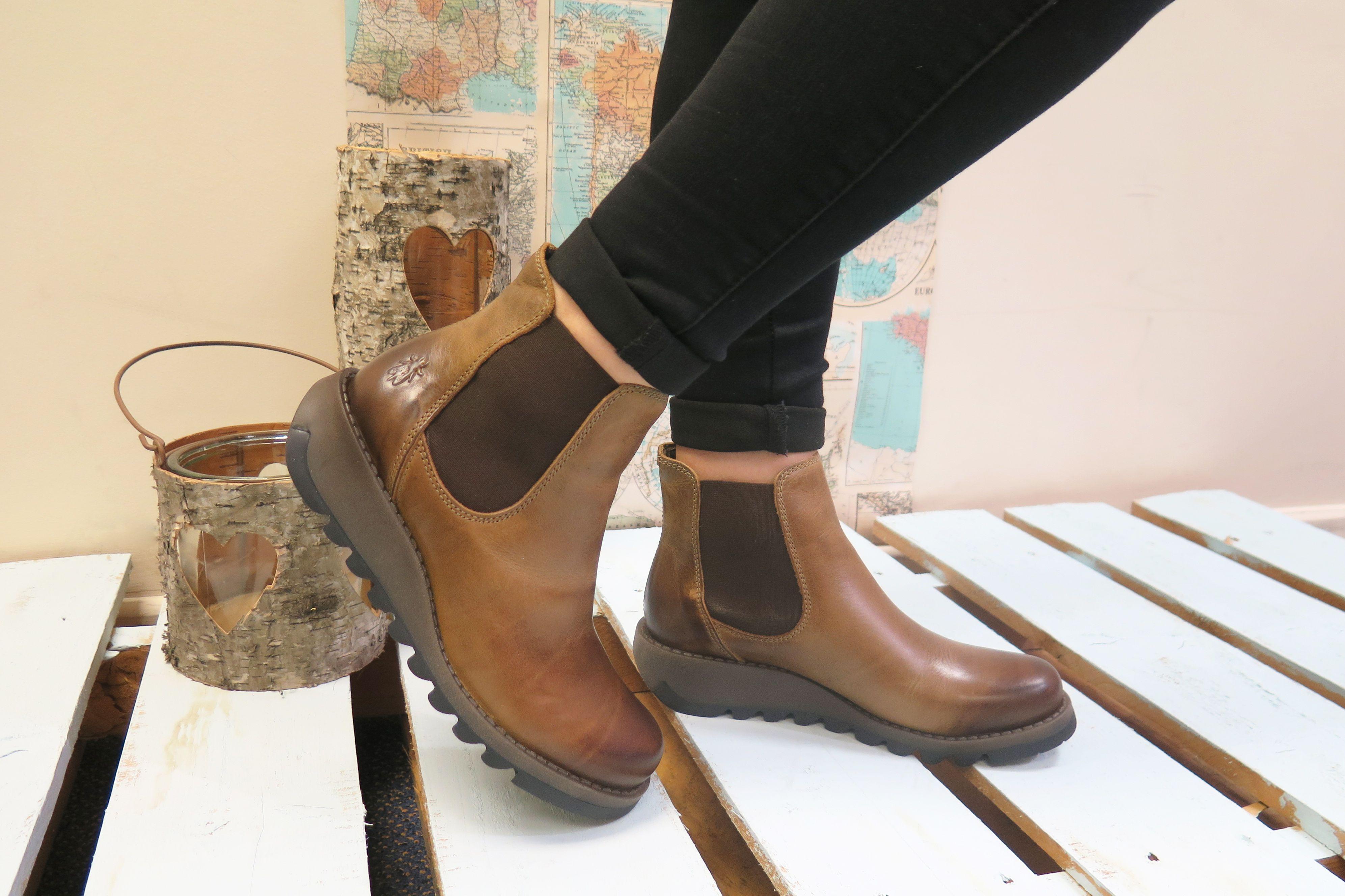 Fly London SALV Ladies Wedge Heel Slip