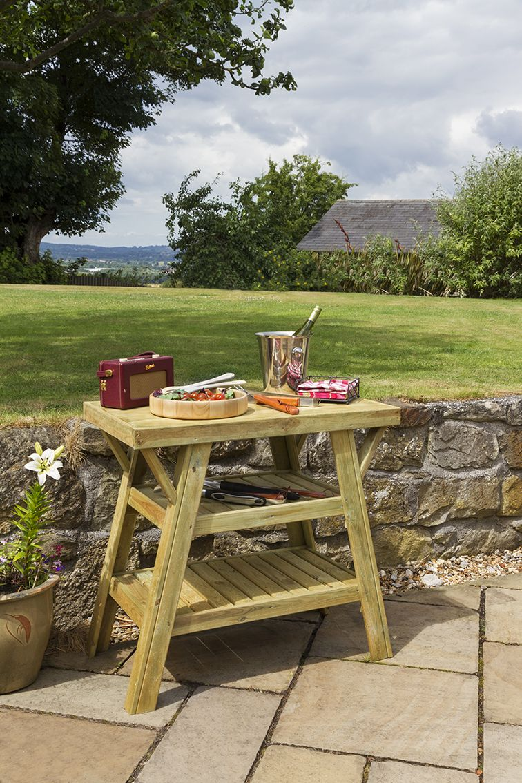 Home garden furniture  BBQ Side Table  Bbq side table  Pinterest