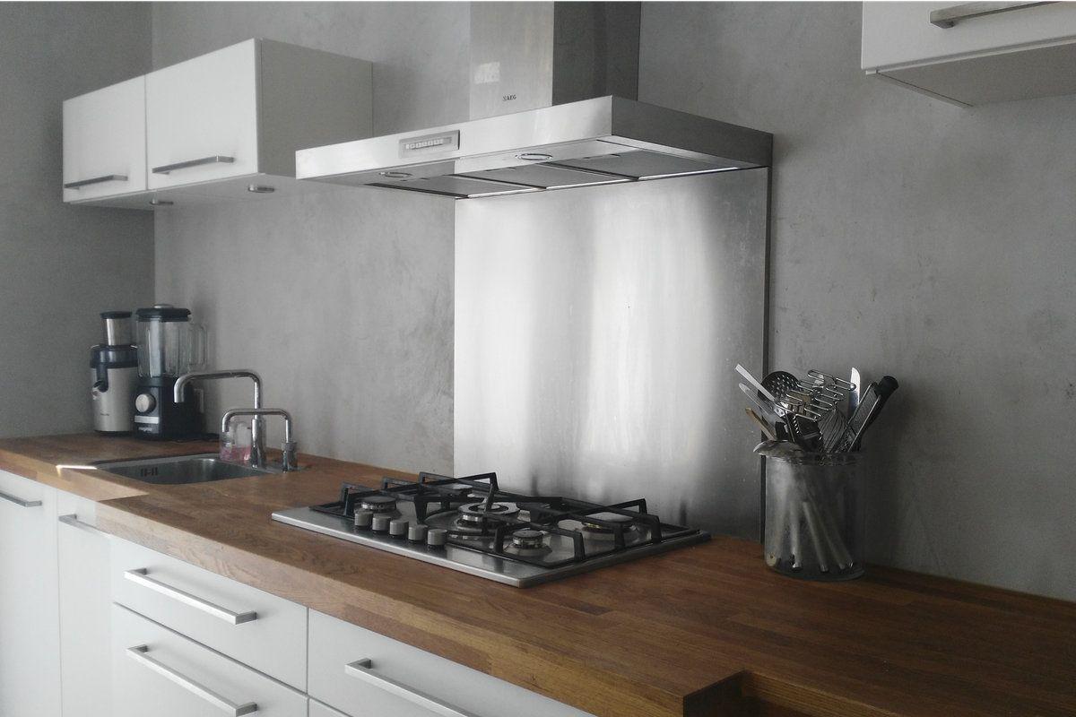 beton stuc  beton cire keuken  muren in 2019  Keuken