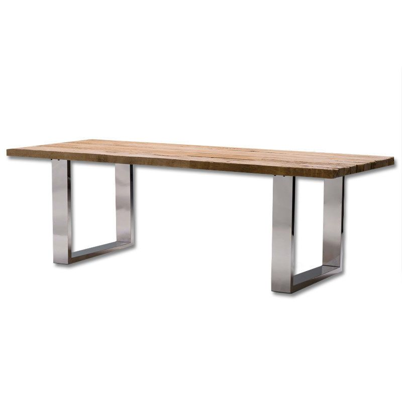 Mesas de comedor redondas - mesa comedor madera y hierro | Casa ...