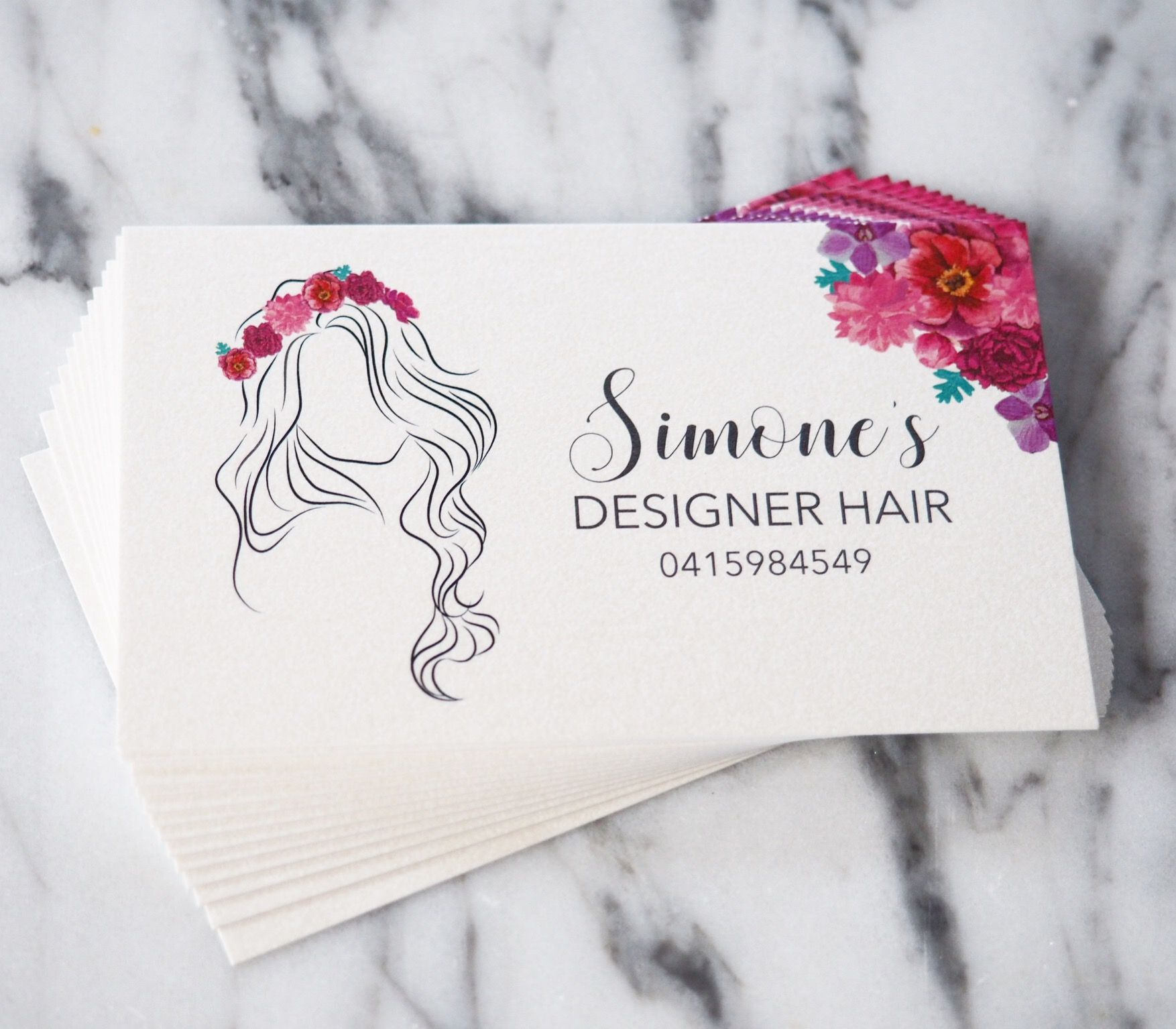 Hairdresser logo design, hairdresser business cards, pearl business ...
