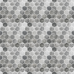 Lantau Grey Mosaic Hexagonal Tile Grey Kitchen Tiles Wood