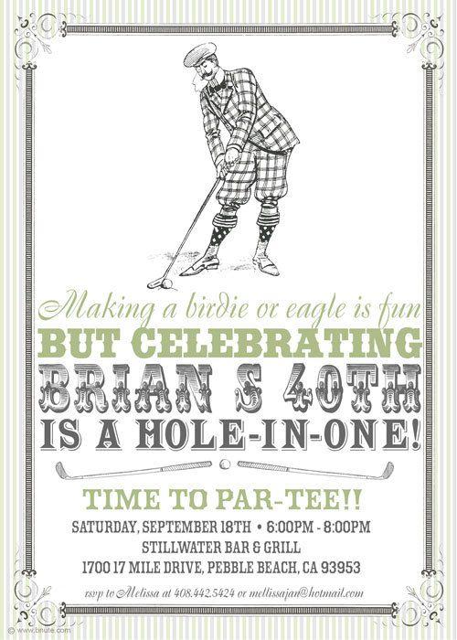 Vintage Golf Party Invitation - Birthday, Shower, Any Occasion, Man on vintage weddings ideas, vintage diy ideas, vintage bridal shower ideas, vintage county fair ideas,