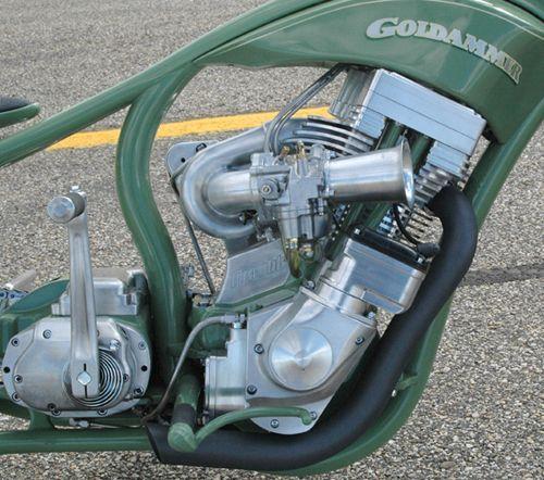 """Grasshopper"""" Custom show bike by Roger Goldhammer"""