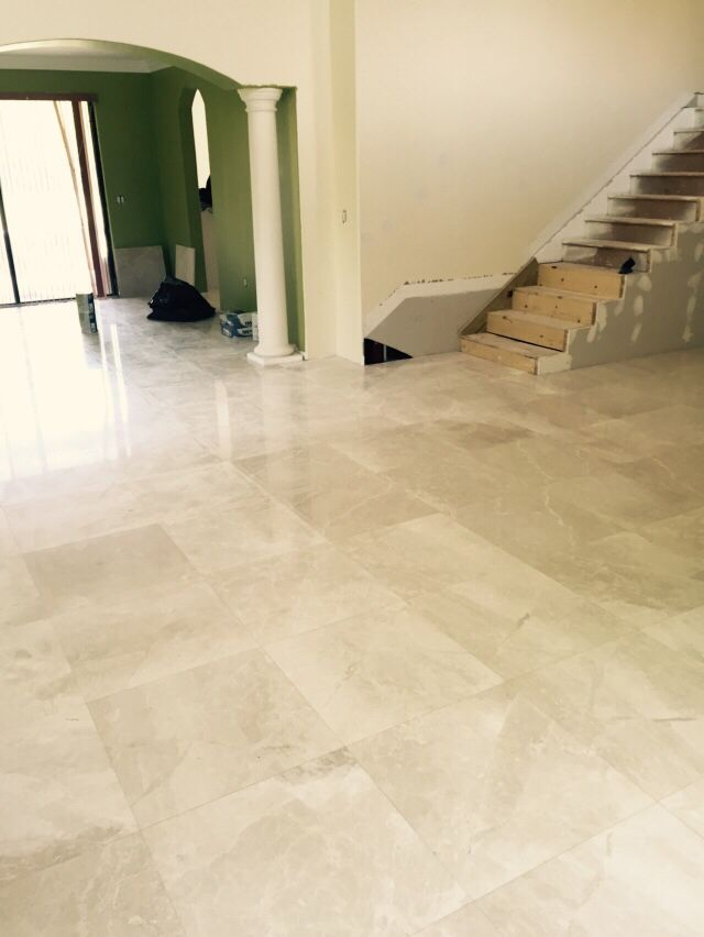 Botticino light cream polished 24x24 marble | Marble floors ...