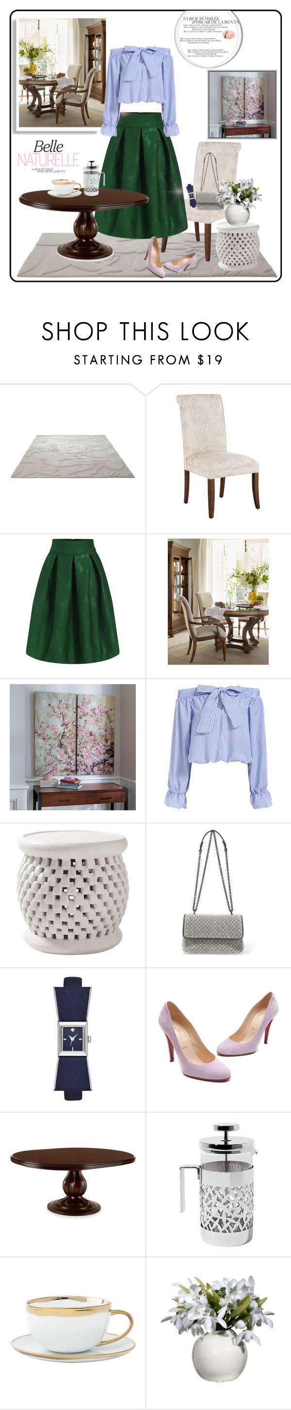 """Natural Chic"" by yukotange ❤ liked on Polyvore featuring ESPRIT, Pier 1 Imports, Hooker Furniture, Improvements, Serena & Lily, Bottega Veneta, Kate Spade, Christian Louboutin, Alessi and Canvas Home"