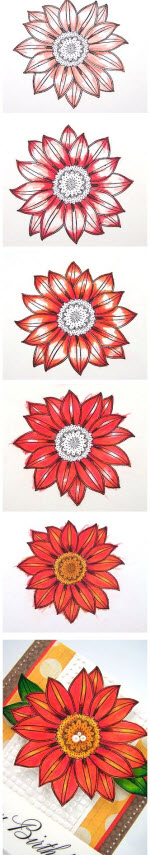 Layering with Art GRIP Colored Pencils by Jill Foster