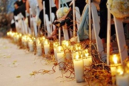 Wedding Aisle Candles Love The Twigs