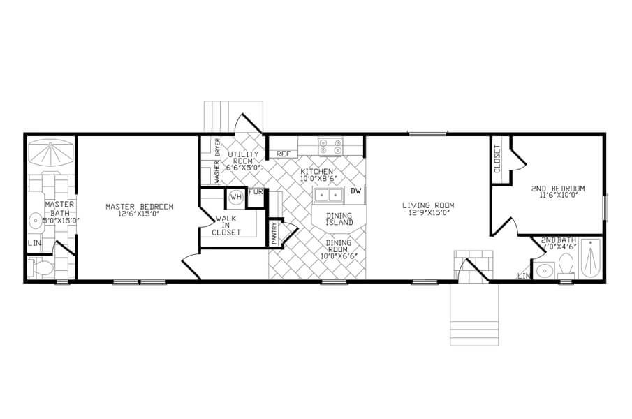 Single Wide Manufactured Home Floorplans | Solitaire Homes ...