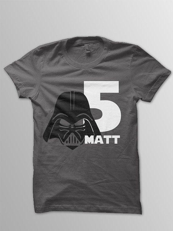 Star Wars Birthday Shirt Disney Kids Darth Vader