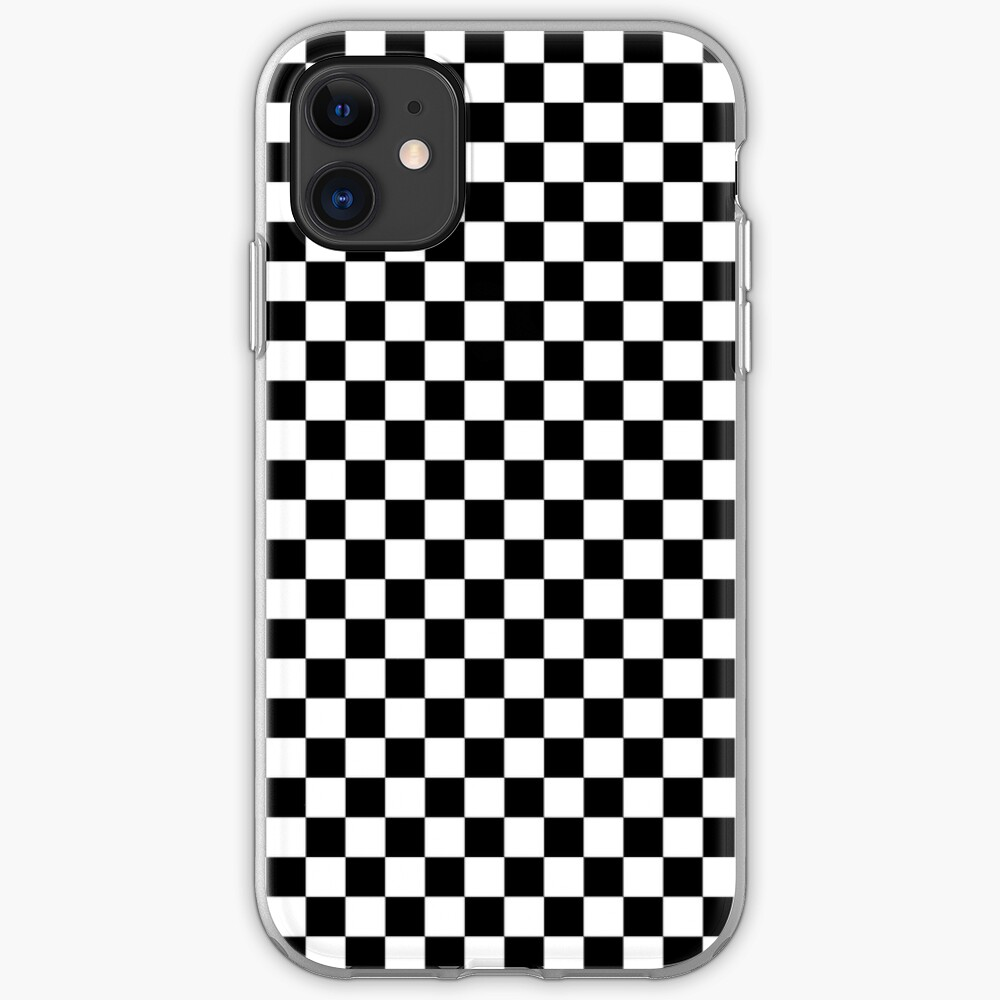 Black Painted Checkerboard On White Iphone 11 Soft By Honorandobey White Iphone White Iphone Case Iphone Cases