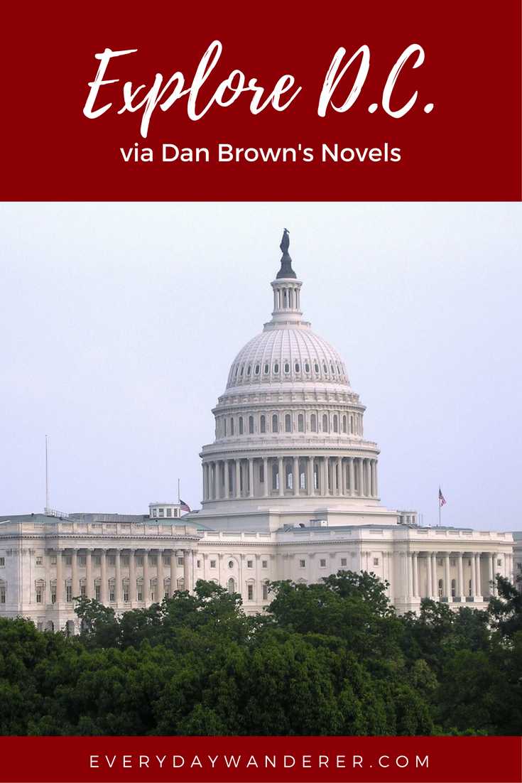 Explore Washington, DC + 17 other destinations via Dan Brown's novels #washingtondc #read #danbrown #US #USTravel