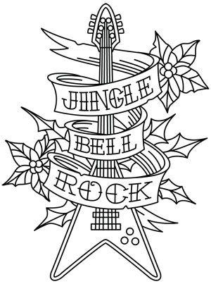 Tattoo Christmas Jingle Bell Rock Design Uth5515 From Urbanthreads Com Christmas Tattoo Christmas Jingles Xmas Drawing