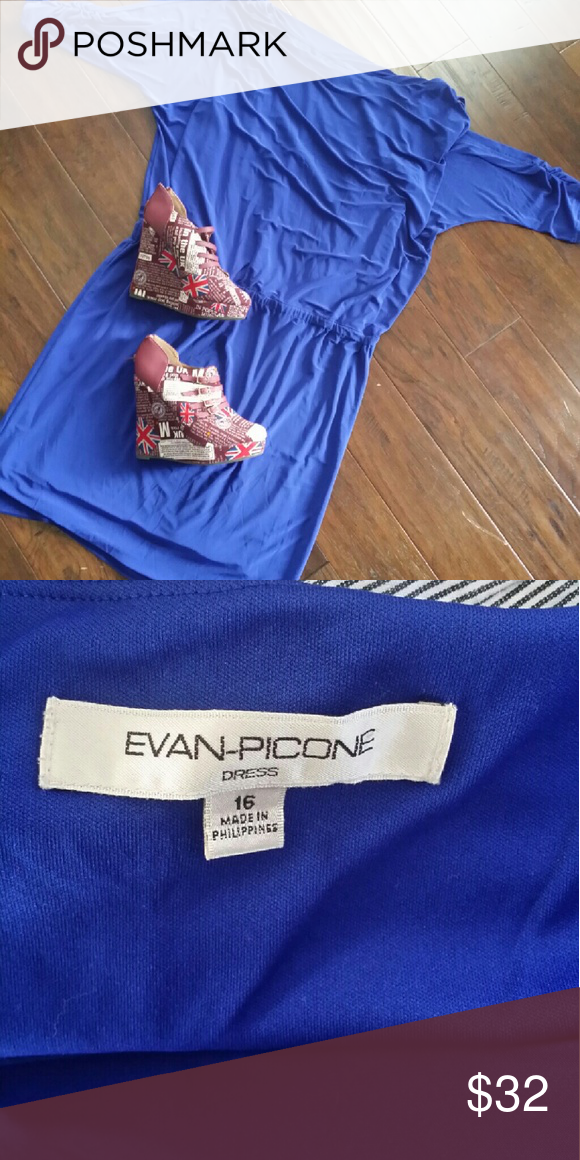 Body con dress Cold shoulder dress. Very gorgeous and chic. Deep blue almost violet. Evan Picone Dresses Midi