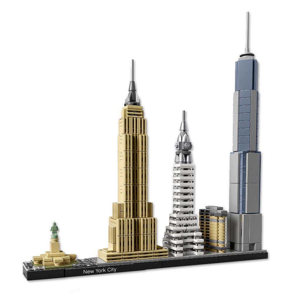 New york city skyline lego set more chrysler building for Model house nyc