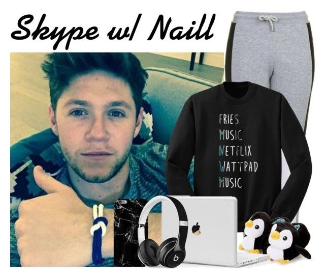 """""""Skype w/ Niall"""" by zayngirl27 ❤ liked on Polyvore featuring Topshop and Beats by Dr. Dre"""