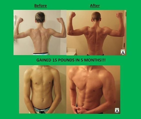 6bcb76d7500 This is success with weight gain and increased muscle mass  This 19 year  old switched to our high quality whey protein powder and gained weight and  lean ...