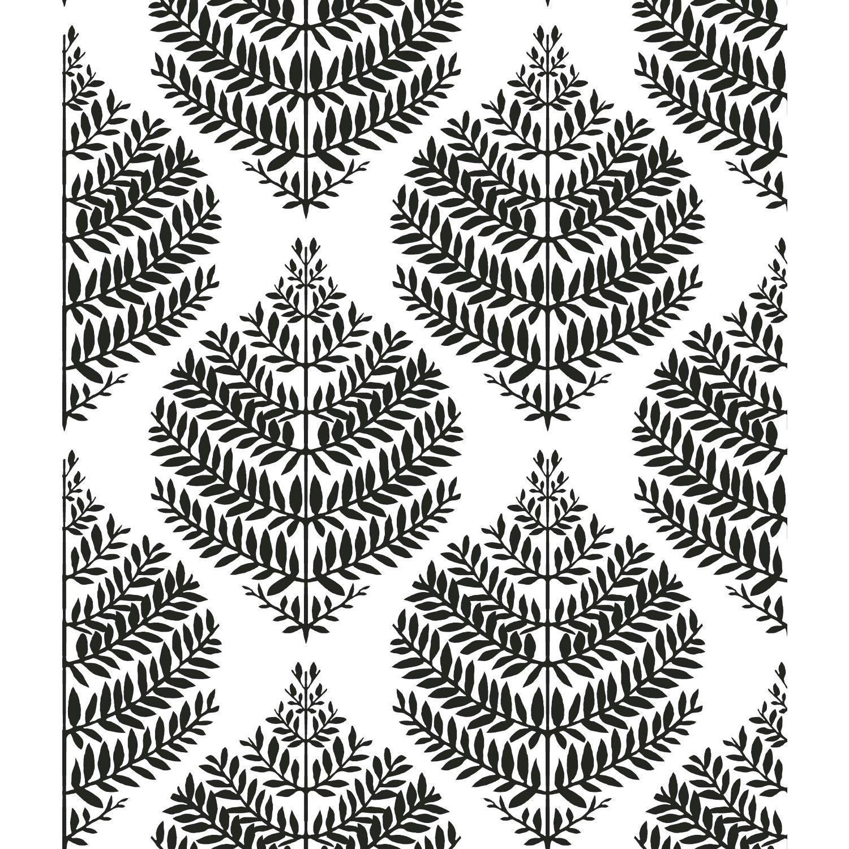 York Wallcoverings Hygge Fern Damask Black And White Peel And Stick Wallpaper Rmk11509wp Bellacor Peel And Stick Wallpaper Hygge Lily Pads