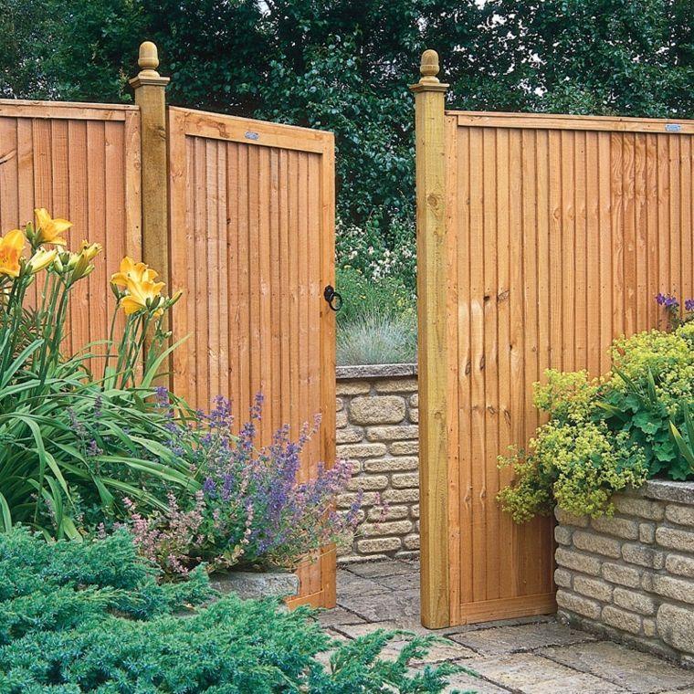 Puertas de jardin arcos verjas cancelas vallas y mucho m s hogar pinterest puertas - Verjas de madera para jardin ...