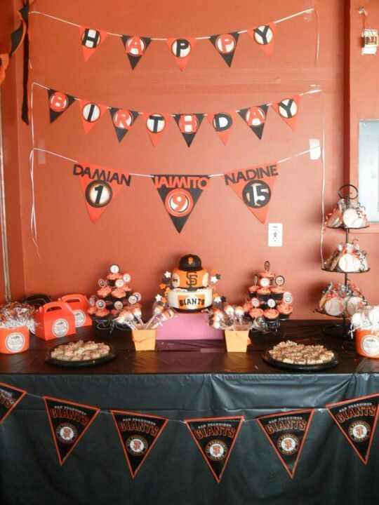 SF Giants Party Husband Birthday Parties Baseball Themes San