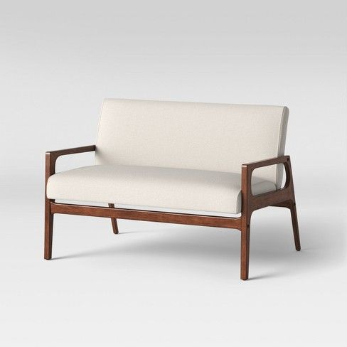 Peoria Wood Arm Loveseat Natural Project 62 Target