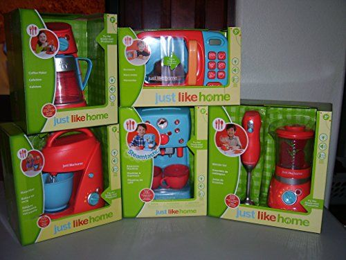 Just Like Home Toy Set : Just like home childrens kitchen appliances set 6 pc mixer
