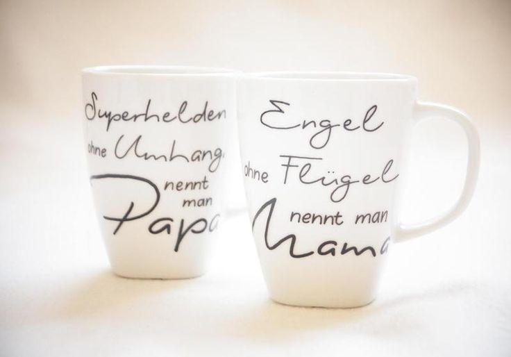 Engel & Superheld / Mama & Papa - 2x 300ml Tasse von Hug in a Cup auf DaWanda.com: #superherogifts