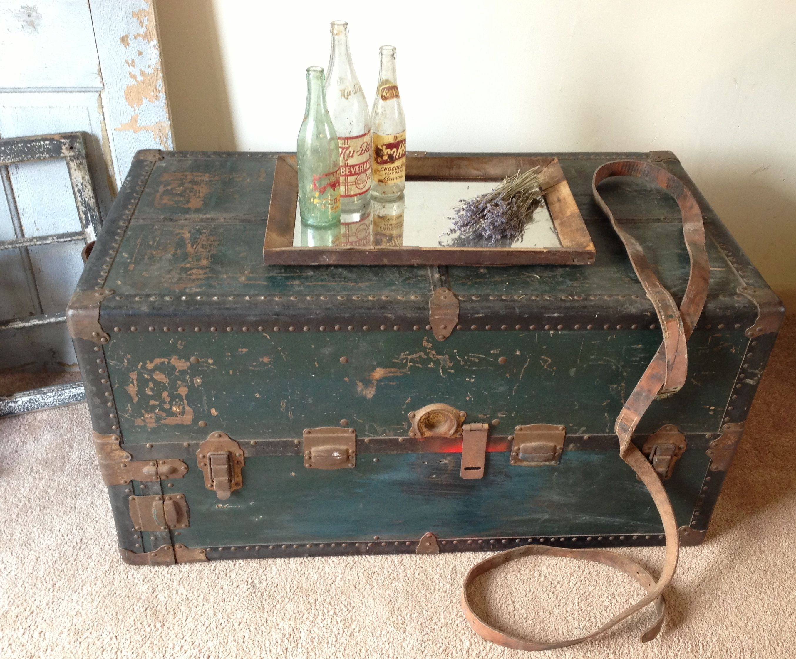 Vintage Steamer Trunk Coffee Table antique Pinterest