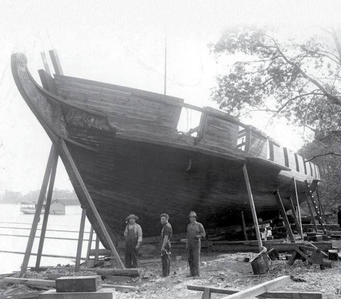 Best Historical Places To Live In The Us: US Brig Niagara Being Rebuilt For The Perry Centennial