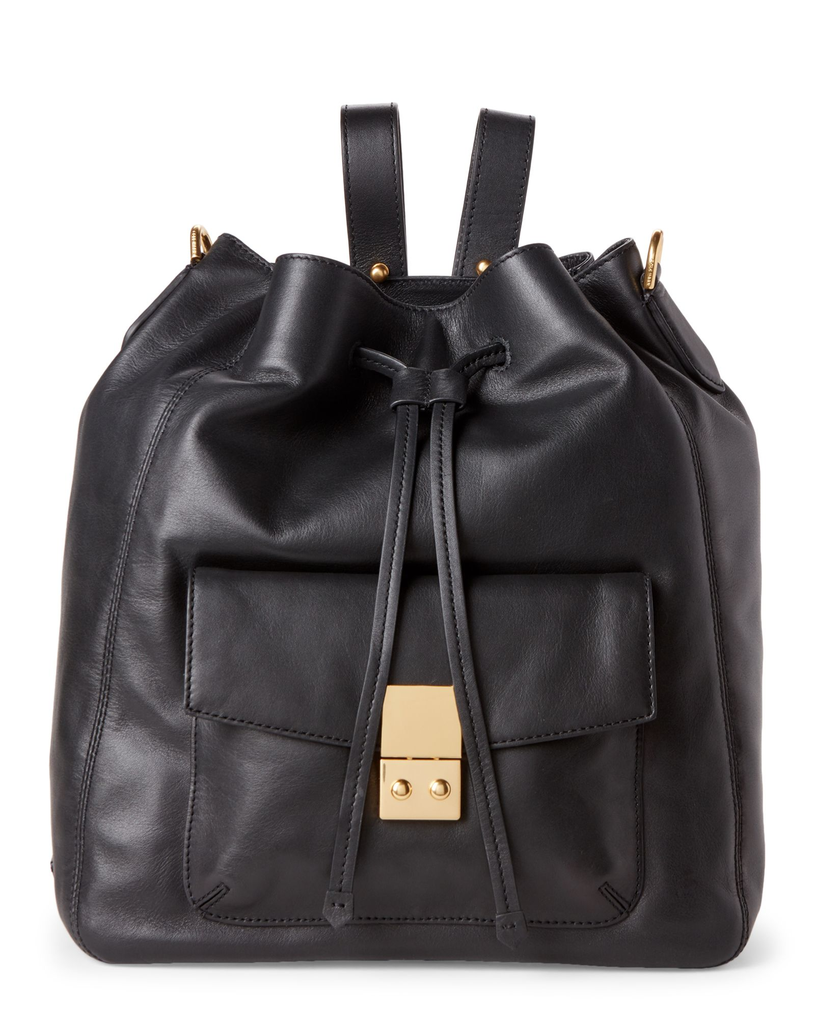 36c26755971f Cole Haan Black Alanna Convertible Leather Backpack Leather Backpack
