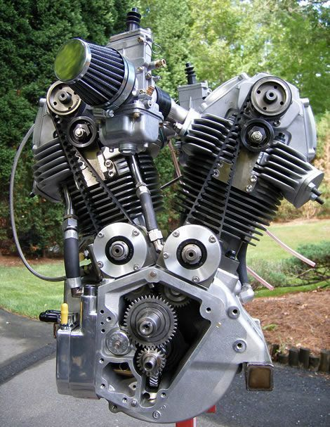 The Harley Desmo Motor It Is A Very Clever Yet Simple Design It Has 80 C I Total The Bottom End Is A Motorcycle Engine Harley Davidson Engines Engineering