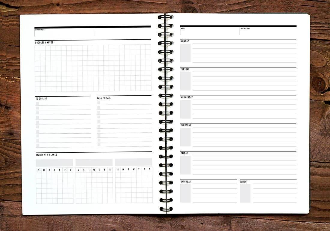 Weekly Agenda Student Agenda Perpetual Calendar